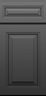Gray/Grey Raised Panel Wood Door Style, Kitchen Cabinets, TX Cabinetry