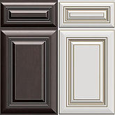 Calumet Mocha Calumet Ivory Door Style, Kitchen Cabinets, TX Cabinetry
