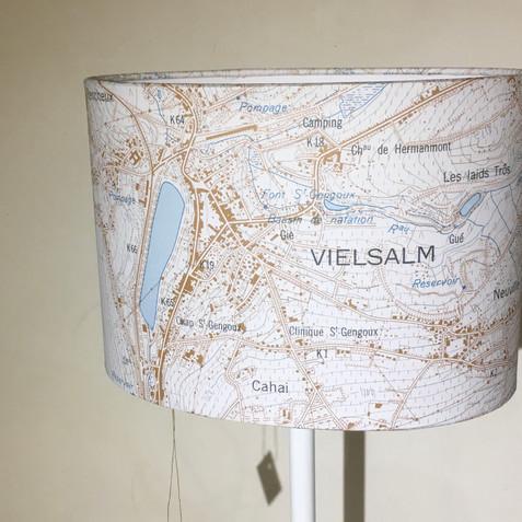 Lampe carte topographique ©IGN-NGI Vielsalm