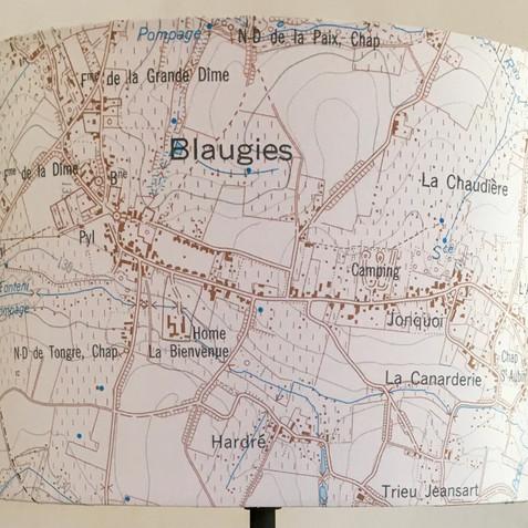 Lampe carte toographique ©IGN-NGI Blaugies
