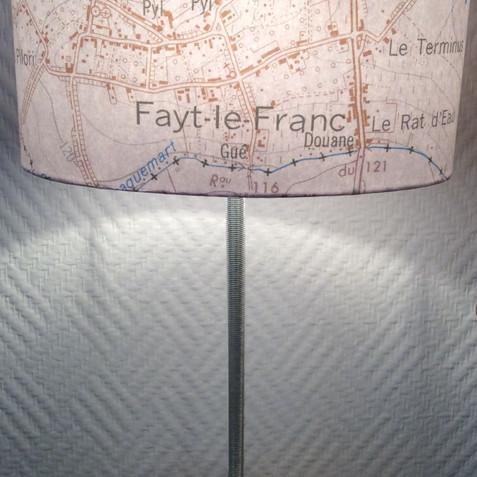 Lampe carte topographique ©IGN-NGI Fayt-le-Franc