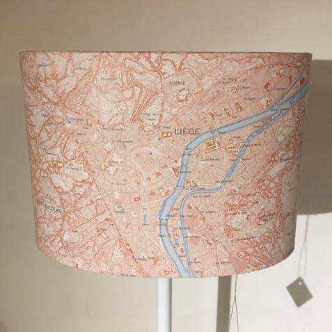 Lampe carte topographique ©IGN-NGI  Liège