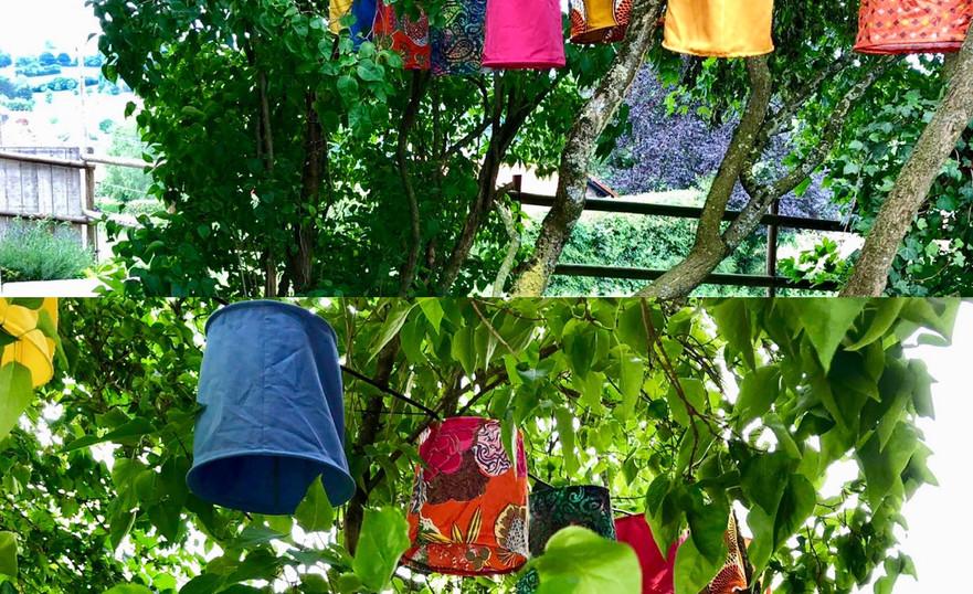 Guirlande de 10 lanternes chez Ô Macrâ, B&B à Aubel