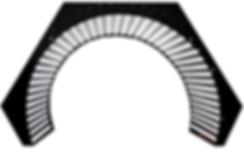 Modular curved display OptiLux LED technology