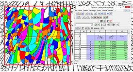 OptiFrag generated fragmentation test result, including tools for immediate statistical exploitation
