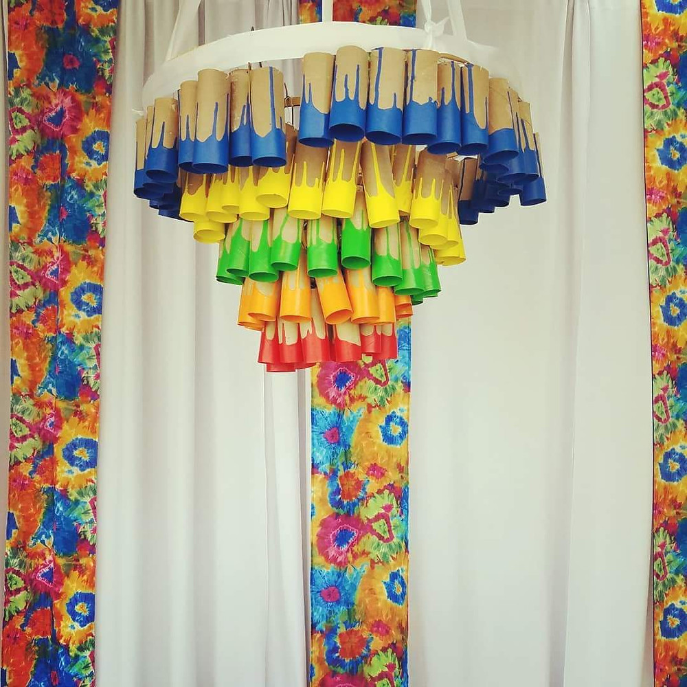 recycled chandelier earth day