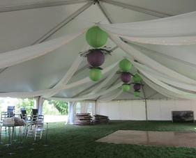 paper lantern chandeliers tent