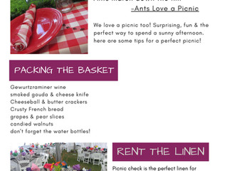 Perfect Picnic Tips - April Newsletter