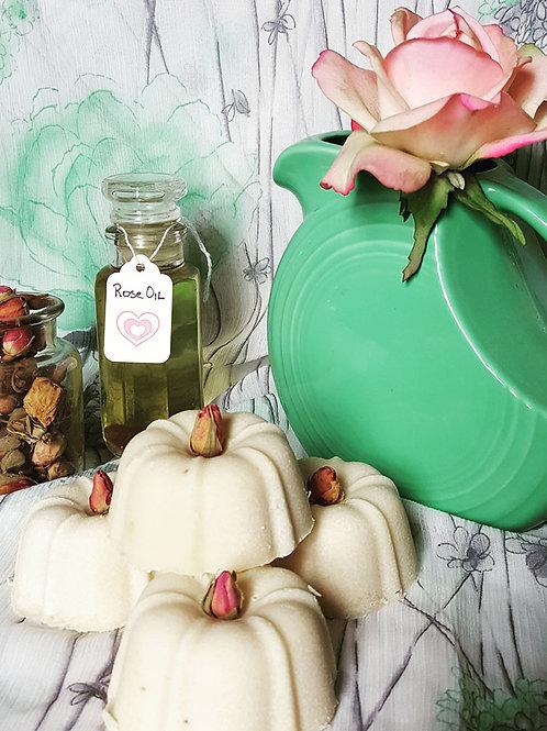 rose infused castile soap