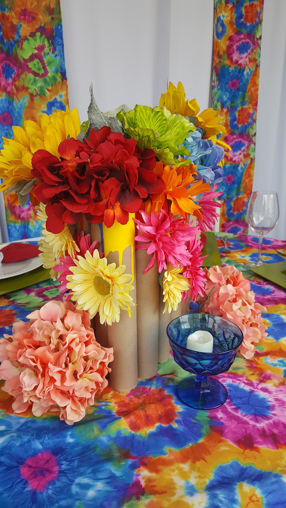 recycled centerpiece inspiration earth day