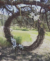 grapevine wreath ceremony decoration