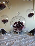 hanging centerpiece vases