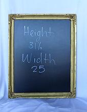 gold vintage rental chalkboard
