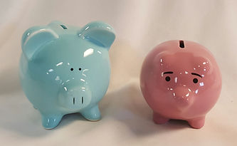 piggy bank centerpieces