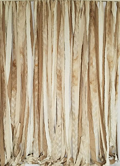 shabby tan ribbon backdrop