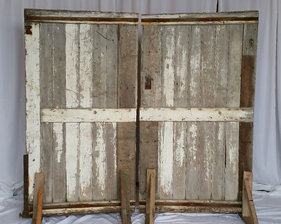 reclaimed barn doors white