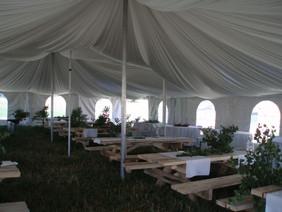 fabric lined pole tent decor rapid city
