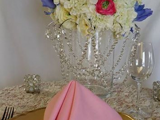 alayna folds napkins: simple tent fold