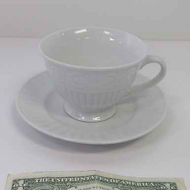fluted cup & saucer