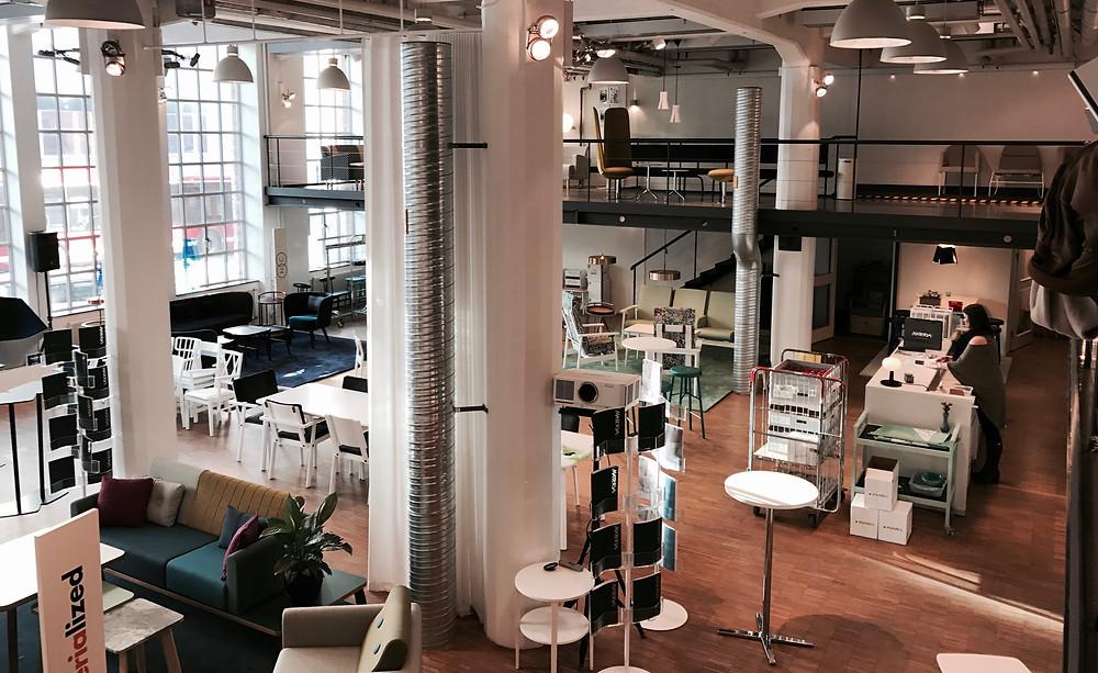 Skandiform NC y Materia Showroom en Estocolmo