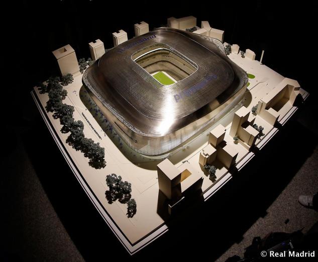 Maqueta del Estadio de Fútbol Santiago Bernabeu