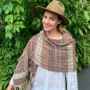 Taos II Handwoven shawl