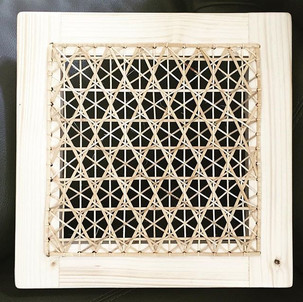 STAR OF DAVID CANED WALL PIECE