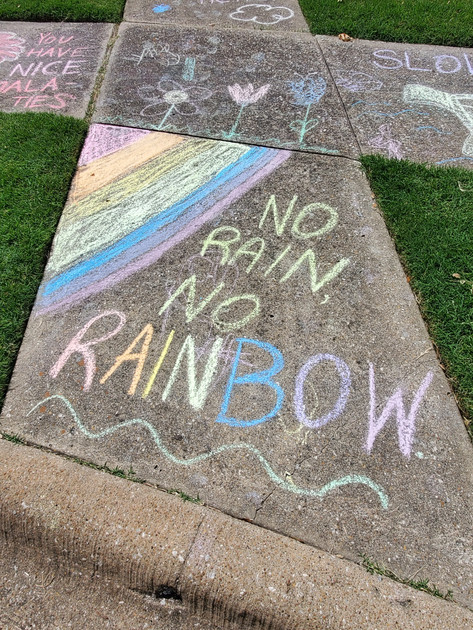 no rain, no rainbows.