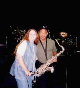 My Kathy and Kirk Whalum.JPG