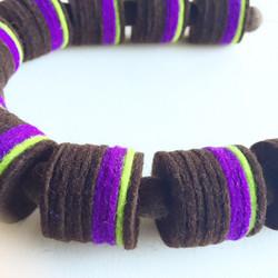 Pagoda chocolate-purple (detail)