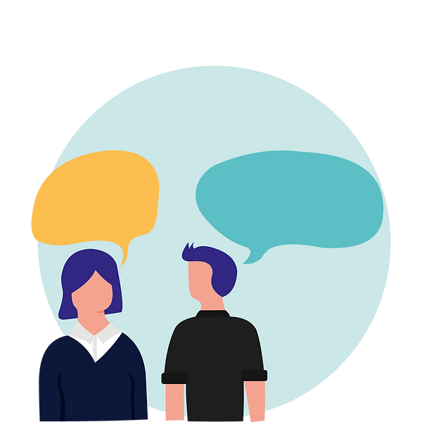 illustration of two person talking_53202
