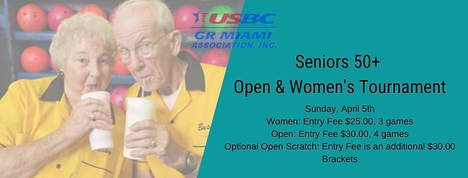 Seniors 50+ Open & Women's Tournament 20