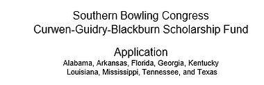 Southern Bowling Congress Schlarship.JPG