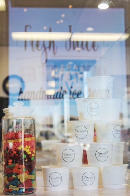 candy, ice cream cups, creamery, nourish