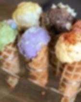ice cream flight, nourish, creamery, flavors
