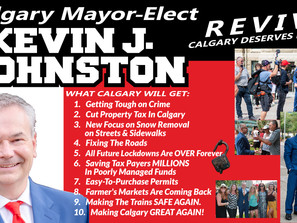New Business Cards For Calgary Mayor-Elect, Kevin J. Johnston