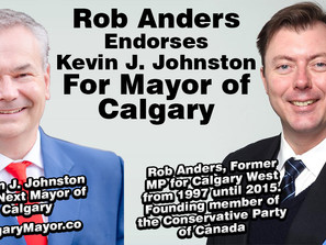 Founder of the Conservative Party of Canada Endorses Kevin J. Johnston for Mayor of Calgary!