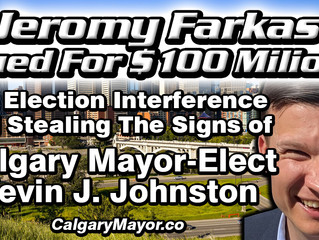 Jeromy Farkas Sued for $100 MILLION For Election Interference And Stealing Election Signs.