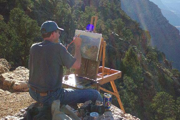 Richard-Boyer-painting-plein-air-Grand-C