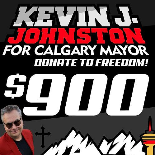 Donate $900