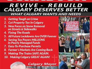 New Promotional Post Cards For Calgary Mayor-Elect, Kevin J. Johnston