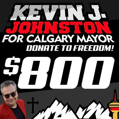 Donate $800