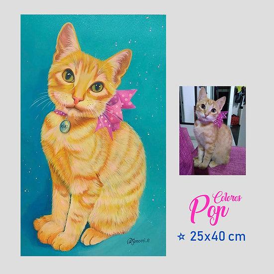 Retrato Mascota 25x40cm