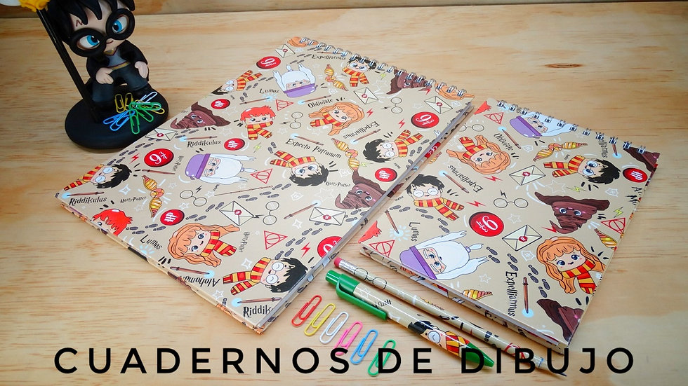 Cuadernos de Dibujo ed. Harry Potter
