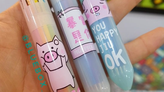 Bolígrafo 10 colores Pig