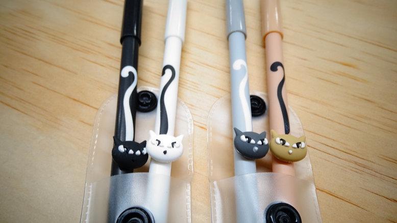 Bolígrafos 2 Gatos en gel