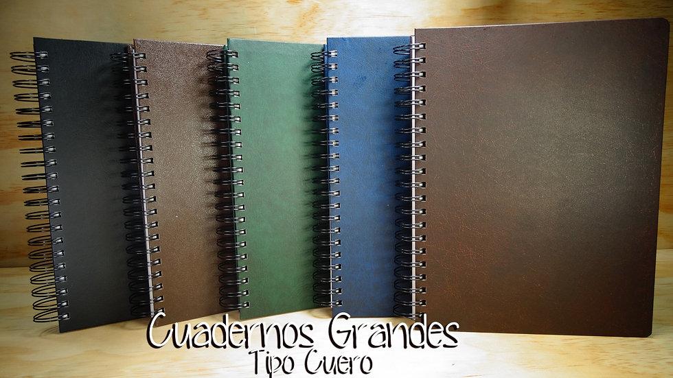 Cuaderno Grande 5 y 7M  tipo Cuero