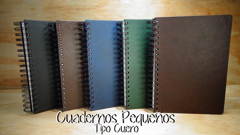 Cuaderno Pequeño 5 y 7M tipo Cuero