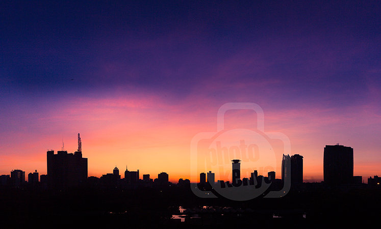 Nairobi City Sunrise Silhouette