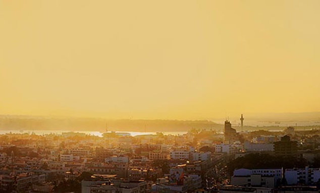 Mombasa Panoramic Cityscape at Sunset